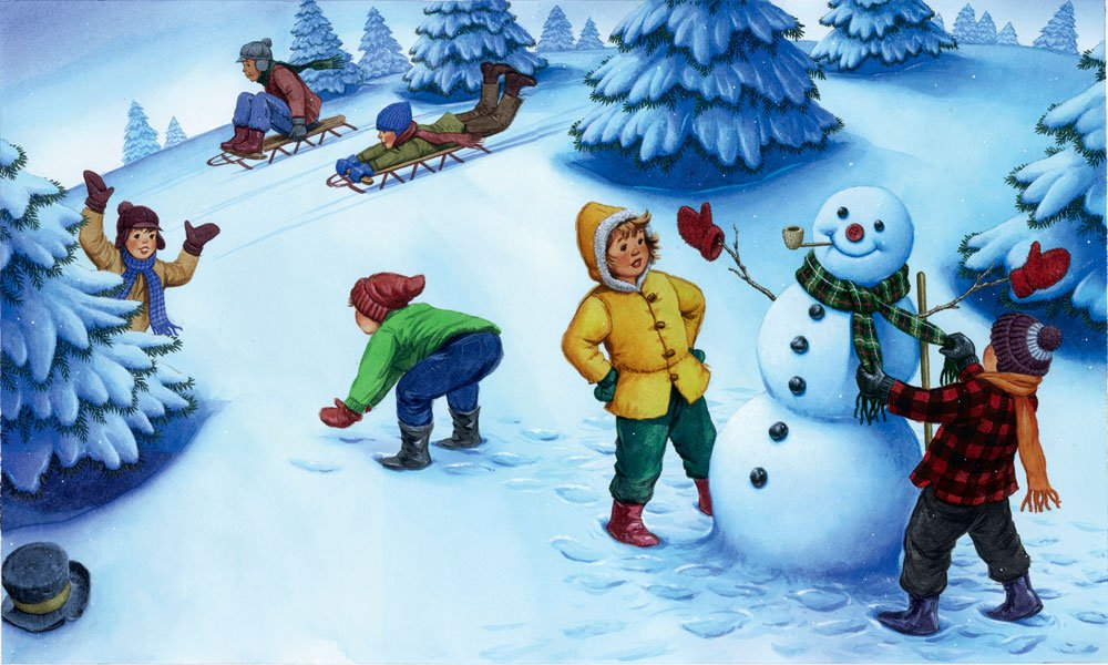 с зимние фотографиями игры