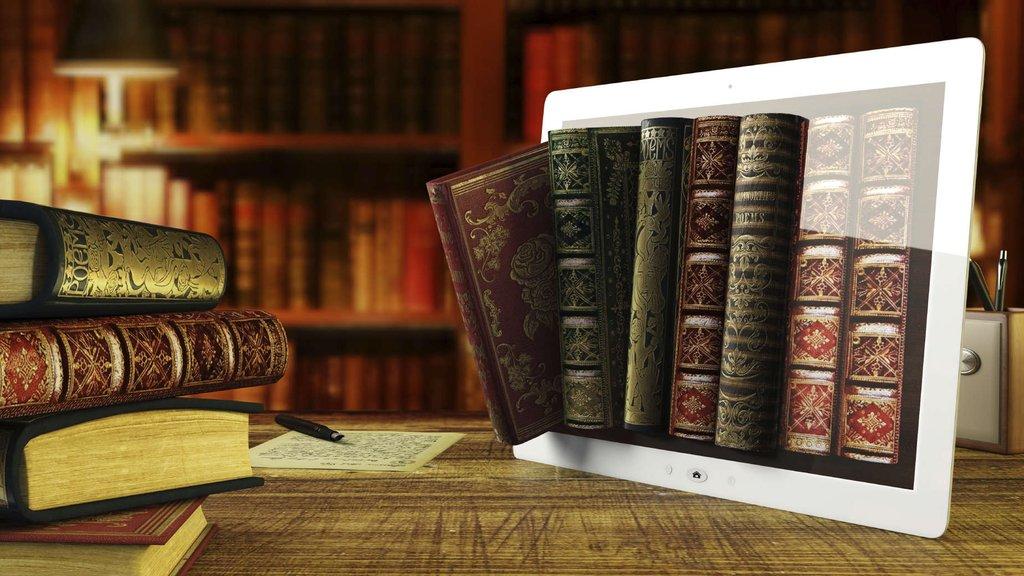 Картинки компьютера с книгами и фото