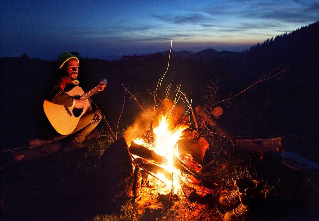 гитара и костер картинки начинки